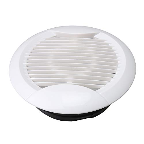 BQLZR 20cm Mount Dia Louvered Grille Cover Vent Hood Wall Air Vents Fly Screen New Straight Leaf Mesh ABS Ventilation Outlet - Grille Leaf Wall