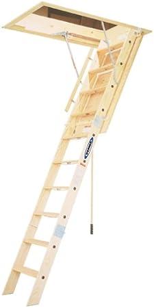Werner wh2210 350-pound Duty Índice Heavy Duty plegable de madera Escalera de ático, 10 pies: Amazon.es: Bricolaje y herramientas