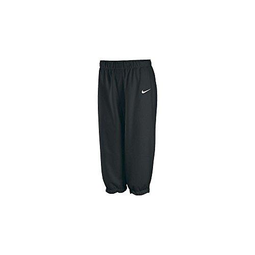 Nike Girl's Core 3/4 Fastpitch Pants, Black/White, LG