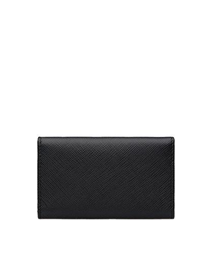Prada Saffiano Holder Nero Saffiano Black Prada Leather Key Wallet TTarwq