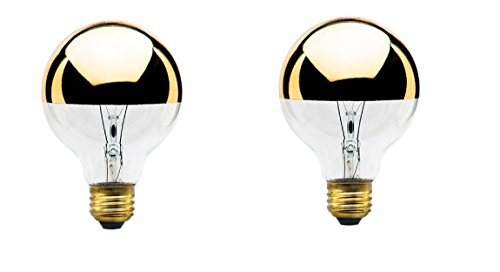 40-Watt G25 Globe Shape Light Bulb, Half Gold, Medium Base (2-Pack)