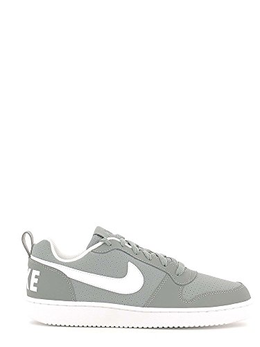 Nike Court Borough Low Cool Grigio / Bianco Mens Scarpe Da Basket 10,5 M