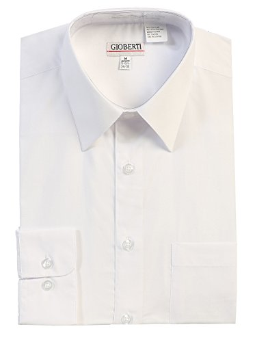 Gioberti Men's Long Sleeve Solid Dress Shirt, White B, 2X Large, Sleeve 37-38 (Big And Tall White Dress Shirt compare prices)