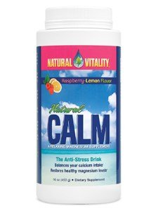 Natural Vitality Calm, The Anti-Stress Dietary Supplement Powder, Raspberry Lemon - 16ounce