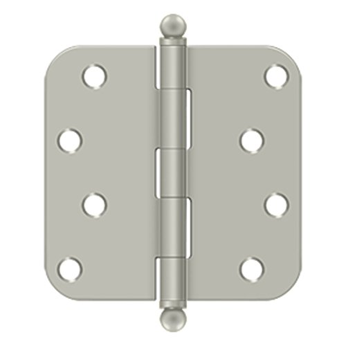 4 in. x 4 in. x 0.63 in. Radius Steel Hinge w Ball Tips - Pair (Set of 10) (Satin ()