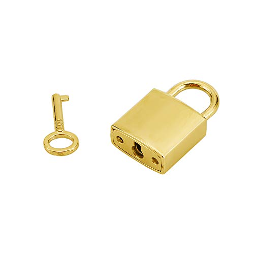 - Mini Metal Lock - Zinc Replacement Silver Pad-Lock with 3 Keys of Hiplaygirl (Gold - 1 Set)