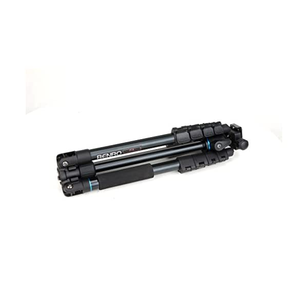 RetinaPix Benro iTrip IT15 Aluminum Travel Angel Tripod Kit with Ball Head Monopod (Black)