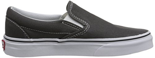 Vans on Slip De charcoal Black Classic Gris U grau Adulto Skateboarding Zapatillas Unisex xr4xw