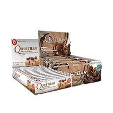 Quête Protein Bar Bundle: 12 comte Double morceaux de chocolat, 12 comte Chocolate Chip Cookie Dough