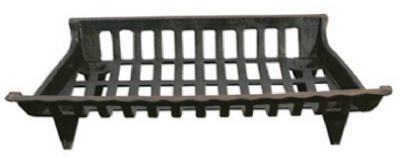 GHP CG24 24 in. Cast Iron Fireplace Grate, Black by GHP