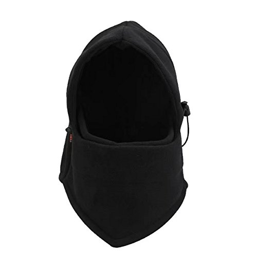 Audio Snowboard Hard Hat (Vrcoco Outdoor Warm Full Face Mask Cover Hat Cap Winter Ski Mask Beanie Police Swat Ski Mask Black Hat Double Layers Thermal Warm Balaclava Hood for Snowboarding Motorcycle Cycling(1pc,Black))