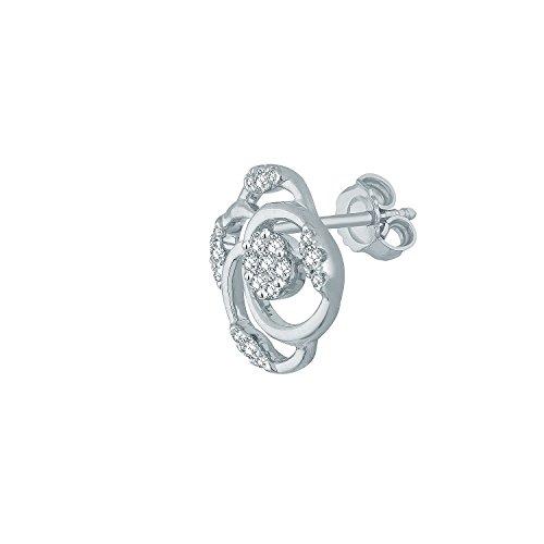 Giantti Diamant pour femme Boucles d'oreilles à tige (0.344CT, VS Clarté, Gh-colour)
