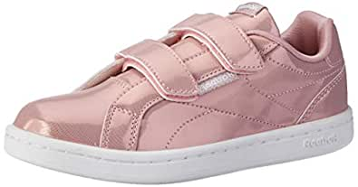 Reebok Girls Royal Complete Clean 2V Sneaker, Pink/White, 1 US