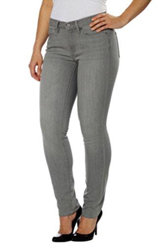 Cotton Pique Jeans - Calvin Klein Jeans Women's Skinny Jean (Gray, 14x32)