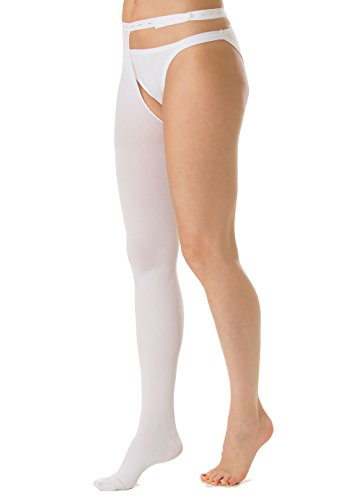 Right Waist Attachment Leg (RelaxSan Antiembolism M2380RA (White, S) Antiembolism thigh high stocking - RIGHT LEG - 18 mmHg)