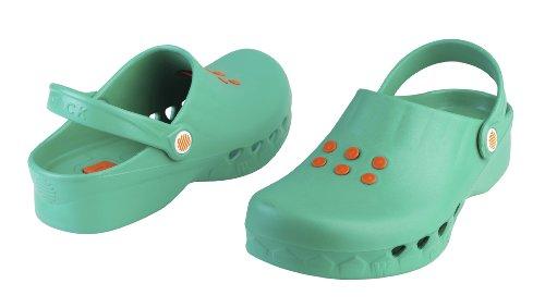 Nube - Calzado de uso profesional WOCK - Antideslizante; Antiestático; Ultraligero; Protección contra vertidos; Reducción de impactos Verde