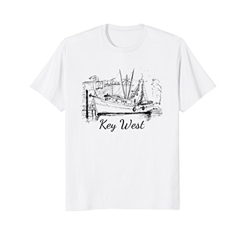 Key West Shrimp Boat Tee Shirt - Key West Sailboat