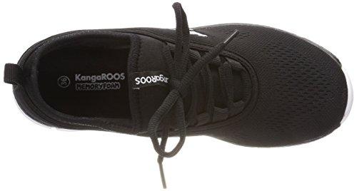 KangaROOS K-Run Neo, Zapatillas Unisex Niños Negro (Jet Black)