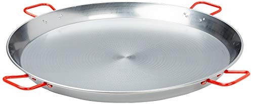 La Ideal 071052 Polished Steel Paella Pan, 35 1/2-Inch, ()