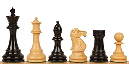 Weighted Staunton Double Pieces Chess (British Staunton Chess Set with Ebonized & Boxwood Pieces - 4
