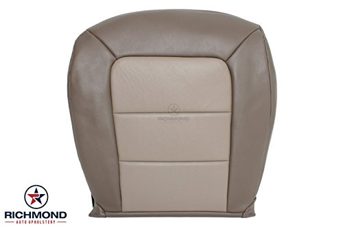 Ford Explorer Sport Trac Seat - Richmond Auto Upholstery - Driver Side Bottom Replacement Leather Seat Cover, 2-Tone Tan (Compatible with 2003-2005 Ford Explorer Sport Trac)