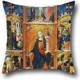 Oil Painting Gonçal Peris Sarrià - Altarpiece Of Saint Barbara Throw Pillow Covers ,best For Boys,home,family,wedding,study Room,christmas 18 X 18 Inches / 45 By 45 Cm(twin Sides) (Barbara Jones Quilt Patterns compare prices)