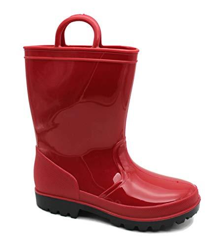 SkaDoo Red Little Kid Youth Rain Boots 2 M US Little Kid ()