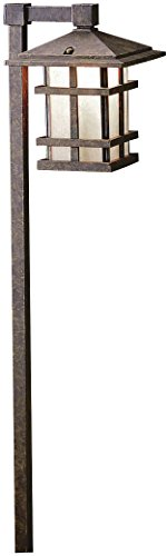 (Kichler 15322AGZ, Cross Creek Low Voltage Post Landscape Path Lighting Xenon, Aged Bronze )