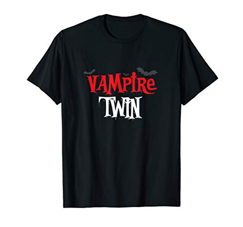 (Vampire twin Shirt, Funny Cute Halloween Costume)