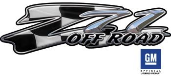 Chevy Z71 Checkered Racing Flag Truck & SUV Offroad Decals