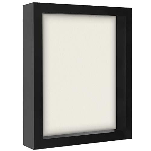 Americanflat 8.5x11 Document Shadow Box Frame, Black
