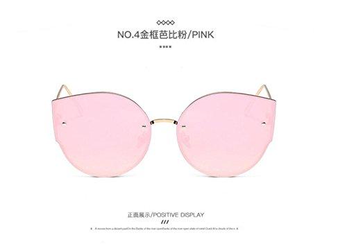 marea LSHGYJ Ojos moda Gold de sol powder box metal Barbie gafas Mails gafas sol gato gafas de de de GLSYJ sol de qZq8ECp