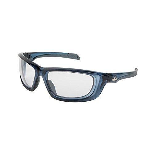 MCR Safety USS Defense Eyewear, Max3, Translucent Dark Blue Frame, Clear - Glasses Vision Frames Success