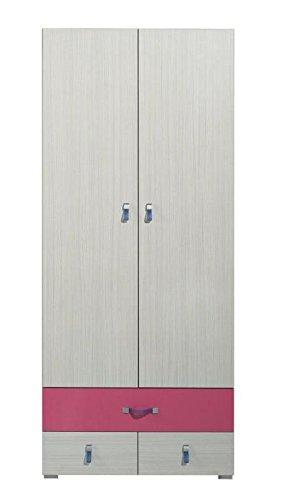 Armadio/armadio ad ante cameretta rosa/bianco 190 x 80 x 50 ...