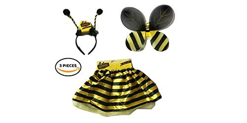 Bumble Bee Costume for Girls Toddler Halloween Costume Bee Costume for Girl Child's Costume Fancy Dress up Outfit