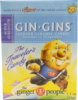 Ginger People Gin Gins Ginger Caramel Candy -- 1.1 Ounce (Pack of 6)