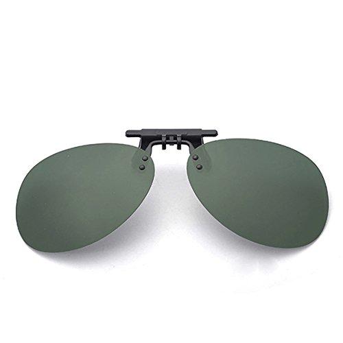 Clip On Sunglasses Men's Titanium Flexible Polarized Lenses Glasses Laura Fairy (C1-Green(G15), - Sunglasses Wear Formal For