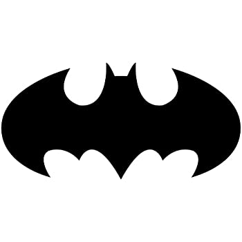 amazon com batman logo decal sticker white black or silver h rh amazon com black and white batman logo fabric batman superman logo black and white
