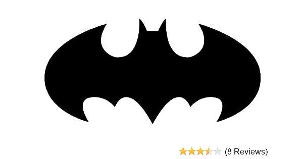 Amazon Batman Logo Decal Sticker White Black Or Silver H 45 By L 9 Inches Automotive