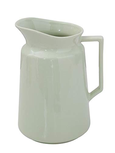 Spouted Handled Mint Sage Green 64 ounce Glossy Ceramic Stoneware Pitcher
