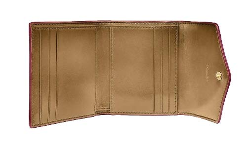 COACH Womens Small Wallet in Color Block Coated Canvas Signature B4//Tan Chalk One Size