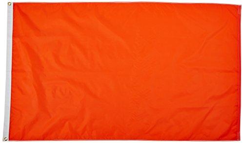 US Flag Store Solid Color Orange 3ft x5ft Nylon flag ()