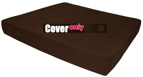 Replacement Cover for Big Barker Sleek Edition - XL - Chocolate (Big Barker Replacement Cover compare prices)
