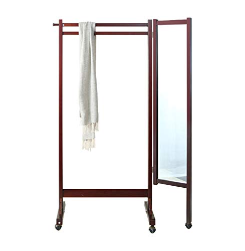 Amazon.com: QIANGDA - Perchero de pie con espejo giratorio ...