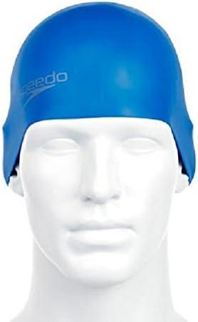 Speedo Plain Moulded - Gorro de natación, tamaño único, color azul ...