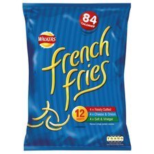 French Fries Walkers Variety Snacks 12 X 19G