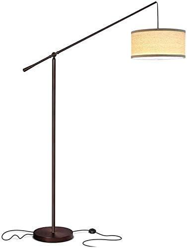 Gpzj Lámpara de pie LED Sala de Estar Lámparas de pie de Arco para detrás del