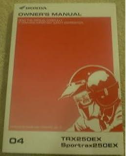 honda trx250ex sportrax service repair manual 2001 2002 2003 2004 2005 download