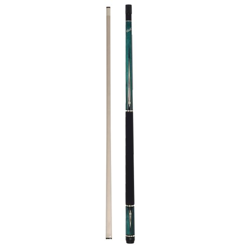 Cuetec Warrior Series 58' 2-Piece Canadian Maple Billiard/Pool Cue, Blue...