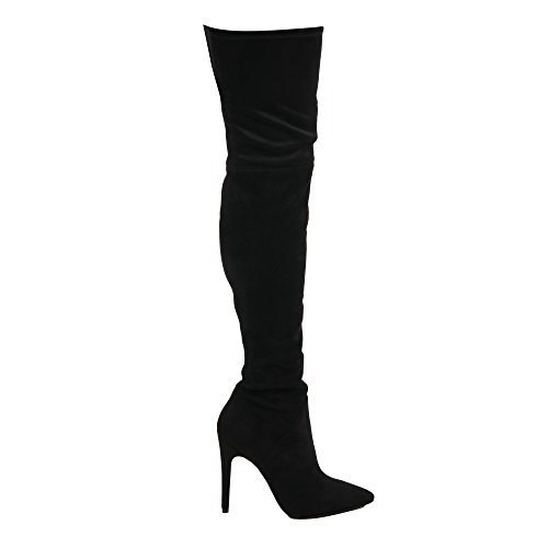 Women's Boots Leather KYLIE KENDALL Kkayla202bk Black 5SxWvnnc8